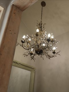 beautiful chandelier in hallway
