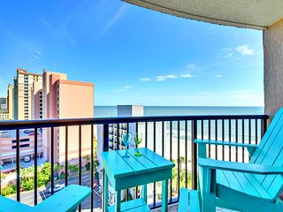 COMPASS COVE OCEANFRONT/HUGE BALCONY/60'TVXBOX1PET
