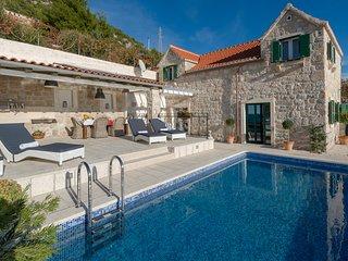 Stunning sea view villa near Bol, Brac island