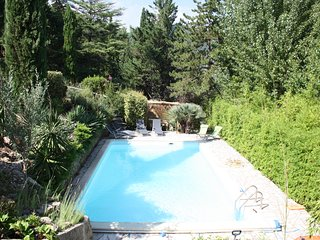 Piscine privée de la Villa L'occitane, 10.00 X 5.00 mètres au sel.
