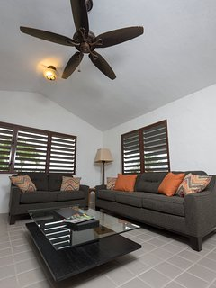 Pool house living area