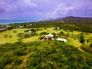 Aerial view of the property looking to the west