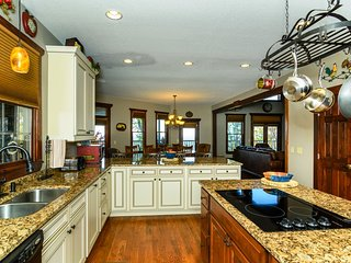 It's easy to prepare a meal for family and friends in this large, fully equipped kitchen.
