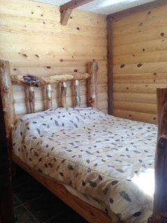 The cottage. Lakeside cottage with kitchen, living room and wood stove., Panguitch Lake