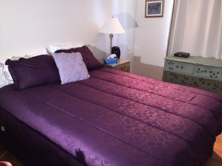 Spacious, comfy Rm with Queen bed, shared bath and WIFI on the Cupertino line, Sunnyvale