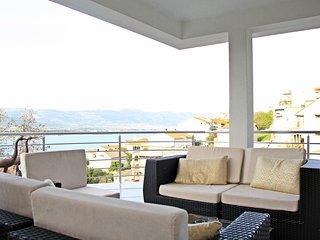 Apartment IGOR 3 with a large sea view terrace, in Mastrinka near TROGIR