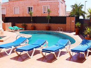 The lovely sunny pool area
