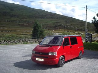 Volkswagen T4 Campervan with great facilities!, Beddgelert