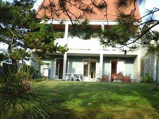 Villa avec belle vue sur mer, proche plage de sable (50m), tout confort, Denneville