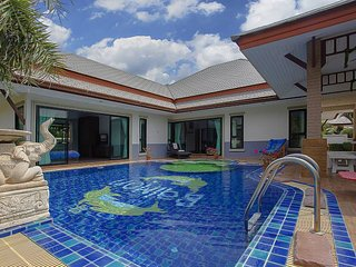 Thammachat P2 Tani | 3 Bed Pool Villa in Bangsaray South Pattaya