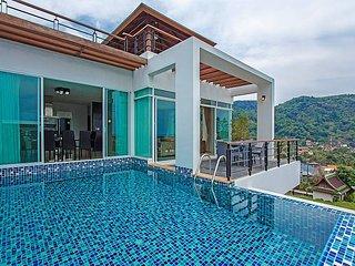 Kata Horizon Villa A1 |4 Bed Pool Villa with Sea Views in Kata Phuket, Kata Beach