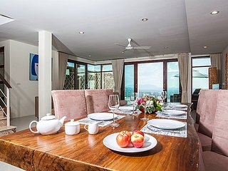 Family 3 bed pool villa with sea views, Koh Samui