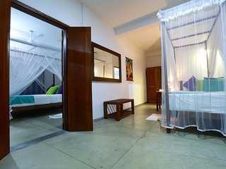 Wonderful spacious bedrooms can adjoin for families or be closed off for privacy