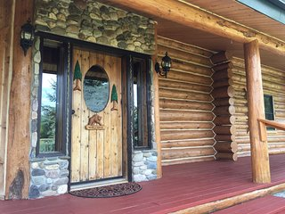 BEAUTIFUL HANDCRAFTED, FAMILY FRIENDLY, LOG CABIN, WRAP-AROUND PORCH, WIFI,, Salmon