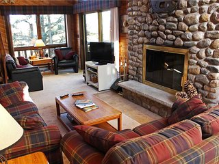 Located at Base of Powderhorn Mtn in the Western Upper Peninsula, A Spacious Trailside Home with Large Stone Fireplace, Indoor Hot Tub & Allows Dogs, Ironwood