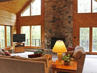 Located at Base of Powderhorn Mtn in the Western Upper Peninsula, A Large Home in Serene Wooded Setting