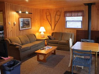 Located at Base of Powderhorn Mtn in the Western Upper Peninsula, A Cozy Home in Quiet Wooded Setting
