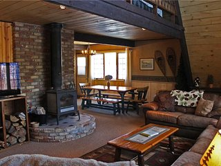 Located at Base of Powderhorn Mtn in the Western Upper Peninsula, A Trailside Home with Large Cozy Living Room
