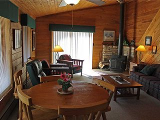 Located at Base of Powderhorn Mtn in the Western Upper Peninsula, Duplex Home with Beautiful Free-Standing Fireplace and Half Block from Main Ski Lodge