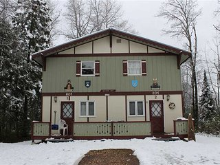 Located at Base of Powderhorn Mtn in the Western Upper Peninsula, A Quaint Duplex Located 1 Block from Main Ski Lodge with Shared Outdoor Hot Tub