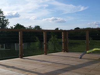 Vue panoramique de la terrasse suspendue