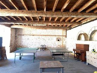 Table tennis barn at Tabary