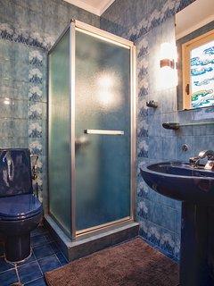 Second bathroom with shower enclosure