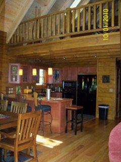 loft where pool table is
