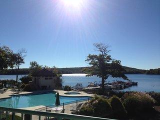 Lake Harmony Condo w/Patio & Stunning Lake Views!