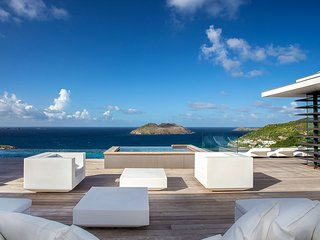 Sea Haven Designer Luxury Villa in St Barts with Breathtaking Views, Anse des Flamands