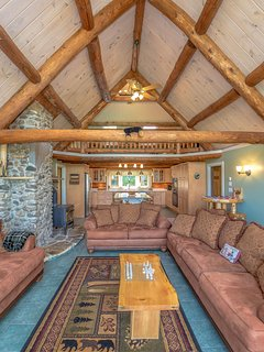 Great Room with 2 Ceiling Fans with Kitchen below (New in 2014) and Large Loft above