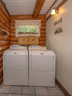 Wash Room with Washer, Dryer (detergent and bleach supplied)