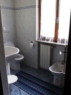 The bright bathroom
