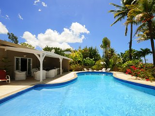 Villa Philibert, with pool on the beach;