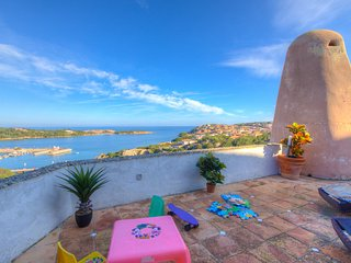 ♥Porto Cervo Holiday Home♥ 4+1 guests Large Private Terrace Seaview Beach 5min♥