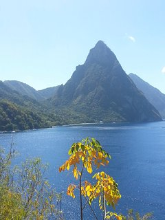 The famous Pitons