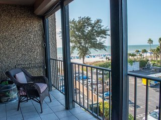 Seamark #406 | Eclectic beachfront condo with great views, Saint Pete Beach