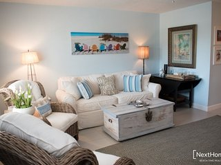 Sun Harbor #203 | Beachy and bright condo, beach across the street
