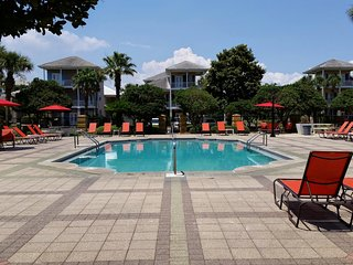 One of two pools seasonally heated