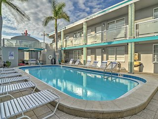 NEW! Clearwater Beach Studio Steps from the Beach!