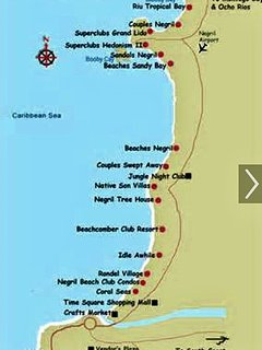 LITTLE BAY COUNTRY CLUB LOCATED AT VERY TOP OF MAP RIGHT ABOVE RIU NEGRIL