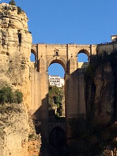 The 18th century 'new' bridge in historic Ronda, straddling a 100m chasm. The views are spectacular.