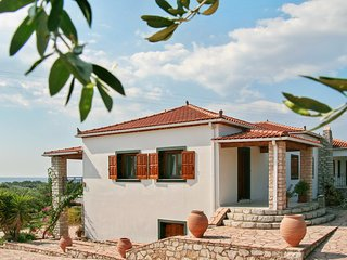 Enchanting apartment with sea view in the middle of an olive-grove, Skafidia