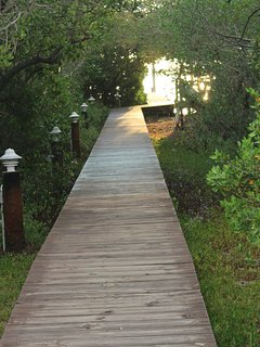 boardwalk from house to dock