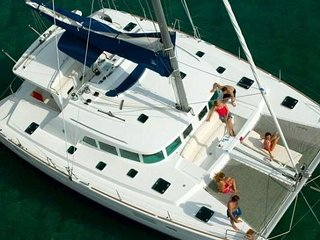 Sleep aboard a Luxurious 45' Catamaran Yacht while floating in Newport harbor