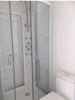 AFTER A LONG DAY OF ADVENTURE ENJOY A HOT SHOWER WITH MASSAGE JETS IN EITHER BATHROOM