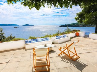 Beachfront Greek Villa with Semi-Private Sandy Beach, Skiathos