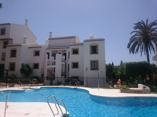 Set in peaceful gardens on the Mijas costa, La Cala de Mijas
