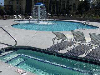 1BR suite on Parkway at bargain prices, with indoor pool and hot tub.