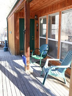 Soak in the sunshine and the views of the aspens from the deck